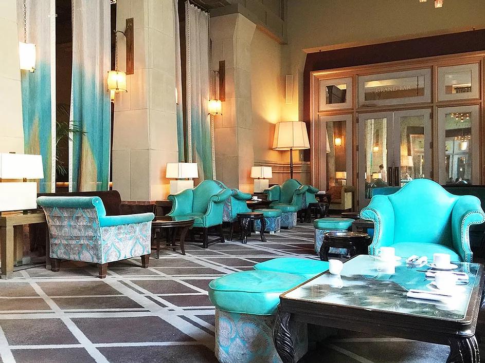 boho hotel lobby