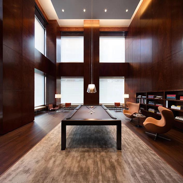 hotel billiard area